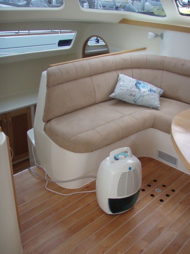 Compact Dehumidifier boat interior
